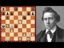Шахматы. Пол Морфи жертва ферзя и мат пешкой в партии с форой