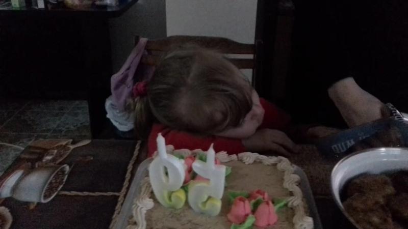 девочка и торт