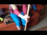 После инсульта. Упражнения для рук (гимнастическая палка)