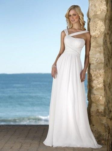 ...что пляжное свадебное платье вполне может быть и без корсета, если...
