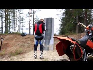 Dirt Bike to Base Jump Stunt - Behind the scenes