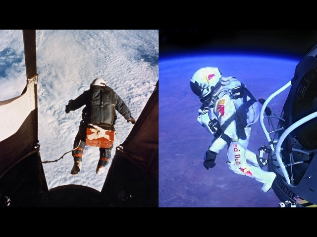 The Red The White and The Blue The Balloonist Joseph Kittinger 1960 vs Felix Baumgartner 2012