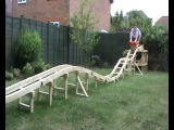 Homemade Roller Coaster Part 4 Us Riding on it
