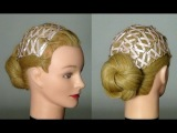 Прическа для длинных волос c ленточками. Hairstyle for long hair.