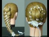 Плетение косы из 4 прядей. (Прическа на 1 сентября)