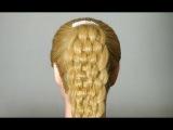Прическа для длинных волос. Hairstyle for long hair!