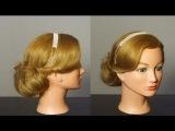 Прическа для средних волос за 5 минут. Hairstyle for medium hair