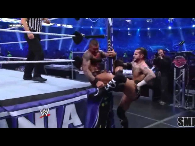 WrestleMania 27 - Randy Orton Vs. CM Punk - Highlights HD