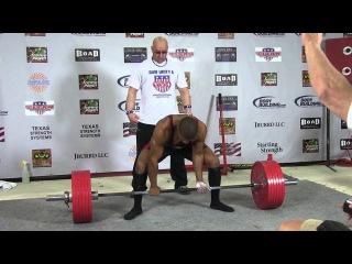 """Vashon Perryman, тяга 325 кг без экипы в в.к. 75 кг на """"Raw Unity 6"""" 2013! (хорошее качество)"""