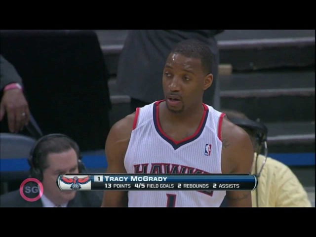 Tracy McGrady - Quick HLs 13pts vs. Pacers(02.09.2012)