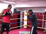 Yuriorkis Gamboa Media Workout 10/06/09 Kingsway Gym / Interview in Spanish