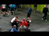 Euro 2012 Riot - Russian Fans Attacking Stewards Wroclaw - Russia v Czech Republic