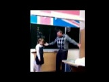 Aggressive Teacher Kicked In Balls By Little Girl in Russia