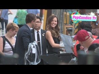 Kate Beckinsale meets fans in Hollywood