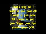 Miguel Ft. J.Cole - All I Want Is You Lyrics on screen
