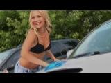 Bikini car wash in Krasnoyarsk (summer 2012)