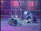 Hypno-Disc vs RaizerBlade (Robot Wars Battle)