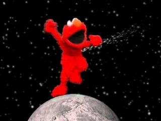 Elmo Dancing On The Moon