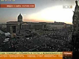 Дуров кидает деньги из офиса на Невский проспект