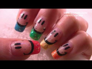 Smiley Face Nail Art Tutorial
