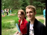 Йога в городском парке на День города в Кемерово