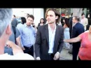 Matthew Gray Gubler star of Criminal Minds interacts with fans at The Amazing Spiderman Premiere