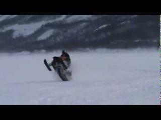 Мощный снегоход.Yamaha Apex McX 500 Turbo.mp4