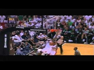 Rajon Rondo gets blocked by Lebron James Game 7 Celtics vs Heat 2012 ECF
