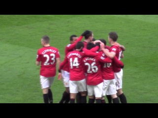 Fan Cam Wayne Rooney Free-Kick Manchester United 2 - Chelsea 2 F.A. Cup 10.03.13