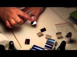отрывная фольга, дизайн для ногтей