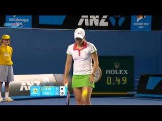 AO 2011 R1 Justine Henin vs Sania Mirza 7/16