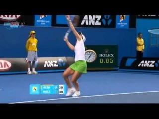 AO 2011 R1 Justine Henin vs Sania Mirza 2/16