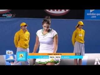 AO 2011 R1 Justine Henin vs Sania Mirza 13/16
