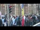 Jandarmeria Capitalei incidente suporteri U Craiova si jandarmi in Piata Victoriei 24 03 2012