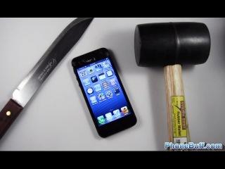 я был в шоке после просмотра этого видео-  в этом видео владелец 5го айфона  делает тест на прочность. он царапает экран и аноди