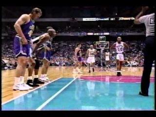 Dennis Rodman airballs free throw