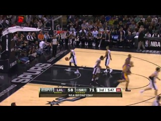 Kobe Bryant hits 3-pointer from the Spurs' logo: Lakers vs. Spurs ()