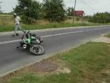 MZ ETZ 250 Wypadek motorcycle crash na gumie wheelie śmieszne