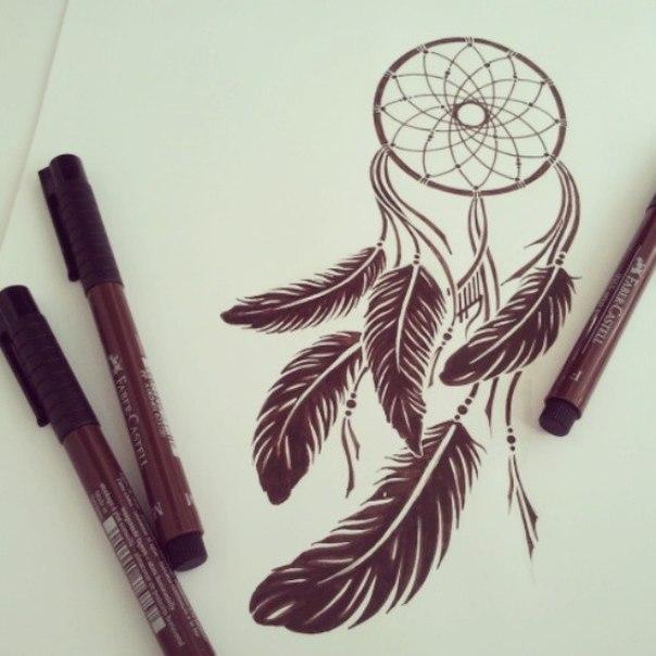 ловец снов карандашом картинки