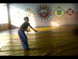 Daniel Ortikov training in the hall