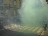Milano 14 novembre: scontri in Corso Magenta verso Palazzo delle Stelline.