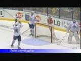 AHL Norfolk Admirals Mike Kostka Fluke goal Wins over Toronto Marlies Scrivens in OT