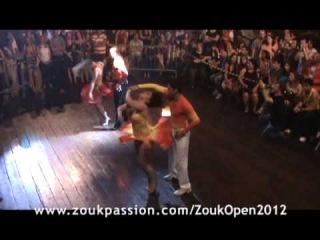 Brasil Zouk Open 2012 Vitor Oliveira Fernanda Zambak e Alisson Bidu Lara Savik 18 10 12