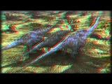Мультфильм о динозавре (анаглиф 3D) (HD)