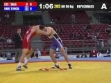ОТ-Болгария: 96 кг: Тимченко (UKR) - Vala (CZE) (Repechages)