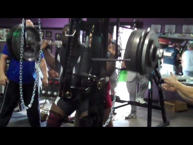 Ray Williams - 800 lb 363 kg Raw Squat