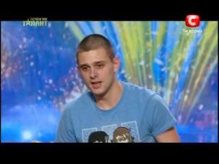 Україна має талант-5 - Самый смешной рекорд по отжиманию на одной руке