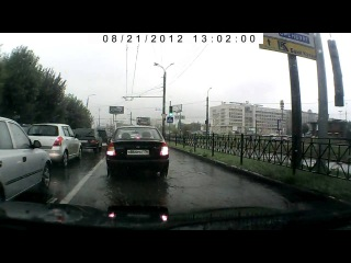 Видео с регистратора Ямашева 21 августа 2012 год (2 часть)