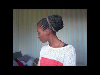 Красивая причёска из афрокос