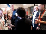 Izabo's Ran Shem Tov Greets Loreen at the Israeli Eurovision party 2012